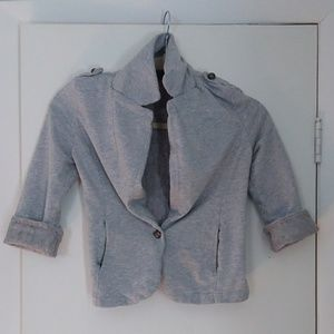 Material Girl Gray/Lace Blazer XS